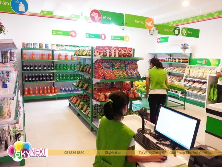 Nhân viên siêu thị là công việc mà bé có thể kiếm tiền để tham gia các hoạt động vui chơi