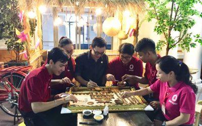 Vietopia chung tay hoàn thành bức tranh gạo gây quỹ Mottainai 2018